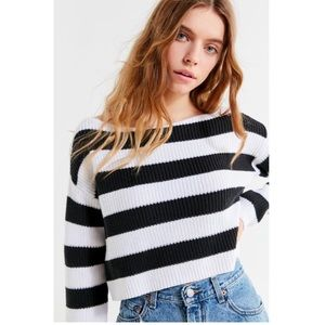 UO Maxine Striped Cropped Sweater